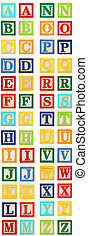 Alphabet Blocks A through Z - Colorful alphabet blocks with...