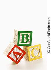 Alphabet blocks.