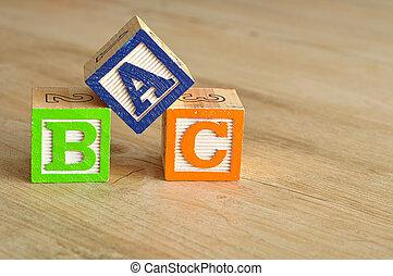 Alphabet blocks ABC
