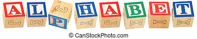 Alphabet Blocks ALPHABET - Colorful alphabet blocks spelling...