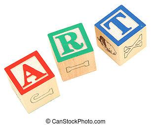alphabet blocks ART