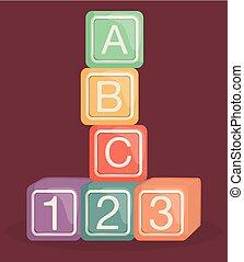 alphabet blocks baby toy
