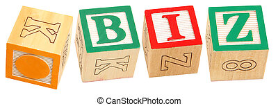 Alphabet Blocks .BIZ - Colorful alphabet blocks spelling the...