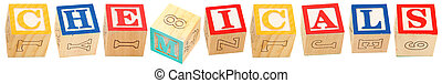 Alphabet Blocks CHEMICALS - Colorful alphabet blocks ...