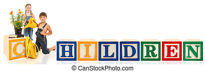 Alphabet Blocks Children