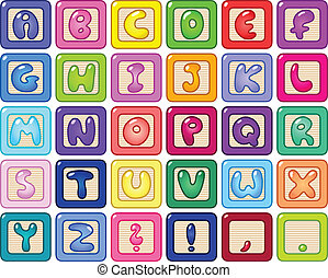 Colorful alphabet blocks