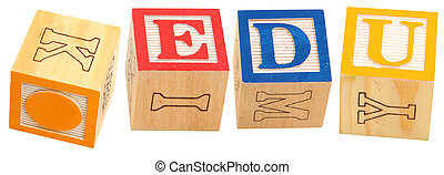 Alphabet Blocks .EDU - Colorful alphabet blocks spelling the...