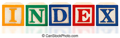 Alphabet Blocks Index - Colorful alphabet blocks. Index