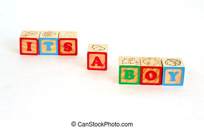 Alphabet Blocks ITS A BOY