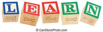Alphabet Blocks LEARN - Colorful alphabet blocks spelling ...
