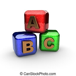 alphabet blocks made in 3d