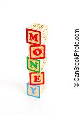 Alphabet Blocks MONEY