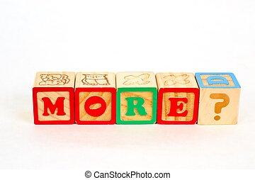Alphabet Blocks MORE?