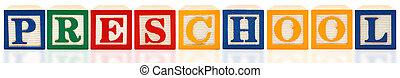 Alphabet Blocks Preschool - Colorful alphabet blocks....
