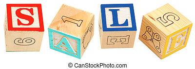 Alphabet Blocks Sale
