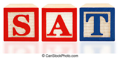 Alphabet Blocks SAT 	Scholastic Assessment Test
