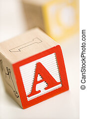 Alphabet blocks.