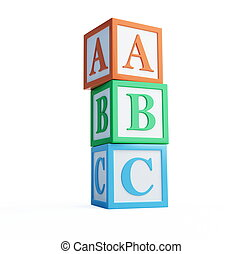 alphabet blocks solated