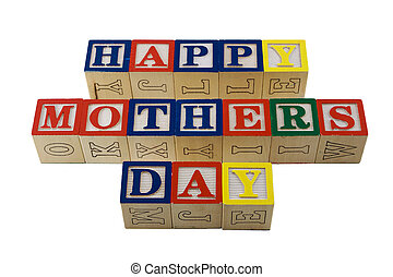 alphabet blocks spelling happy mothers day