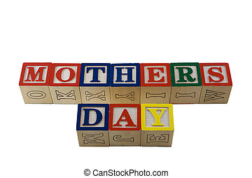 alphabet blocks spelling mothers day