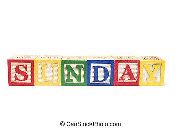 Alphabet Blocks - Sunday