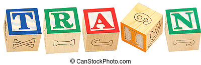 Alphabet Blocks TRAIN - Colorful alphabet blocks spelling ...