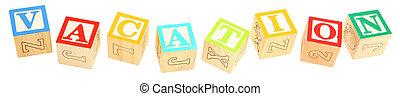 Alphabet Blocks VACATION