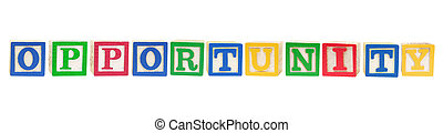 Alphabet Blocks with Opportunity Concept