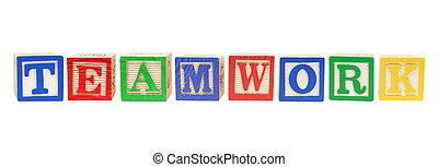 Alphabet Blocks with Teamwork Concept