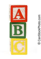 alphabet blokkeert, vrijstaand