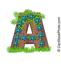 Alphabet Blooming Vine A - Alphabet letter A, is part of the...