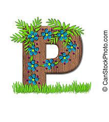 Alphabet Blooming Vine P - Alphabet letter P, is part of the...