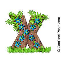 Alphabet Blooming Vine X