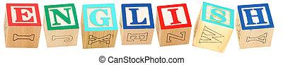 alphabet bloque, anglaise