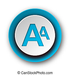 alphabet blue modern web icon on white background