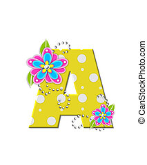 Alphabet Bonny Blooms A - The letter A, in the alphabet set...