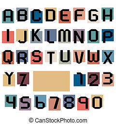 alphabet, briefe, zahlen