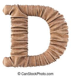 alphabet burlap - alphabet made from burlap. Isolated on...
