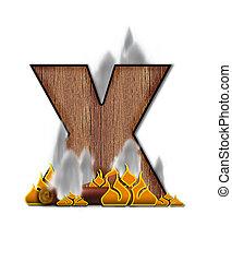 Alphabet Burning X