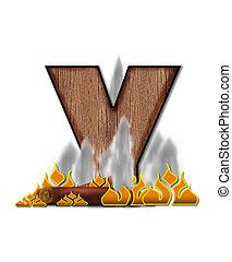Alphabet Burning Y