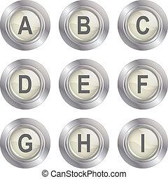 Alphabet Button - A-I