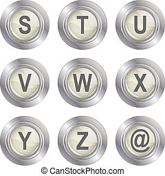 Alphabet Button - S-Z