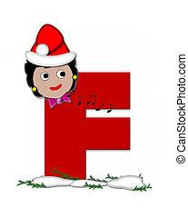 Alphabet Carol of Christmas F