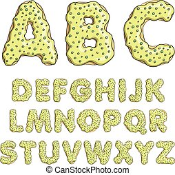 Alphabet cartoon letters