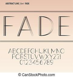 alphabet, chiffre, vecteur, ligne, résumé
