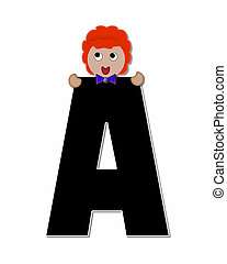 Alphabet Children Expressions A