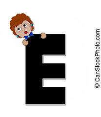 Alphabet Children Expressions E