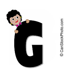 Alphabet Children Expressions G