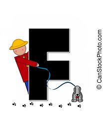 Alphabet Children My Pets F