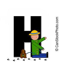 Alphabet Children My Pets H